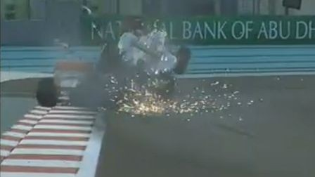 GP di Abu Dhabi 2012-Rosberg-Karthikeyan-Incidente